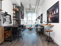 office industrial design. Industrial Design Decoration Home Office With Wall Art Long Room