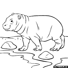 Small Picture Baby Hippo Coloring Page