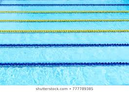 view of outdoor swimming pool with lanes
