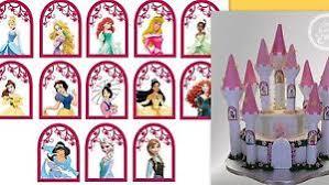 Disney Princesses Window Frames For Castle Cake Icing Cake Topper
