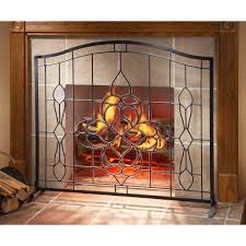image of modern fireplace screens glass
