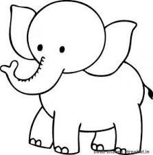 Small Picture Elephant Coloring Pages for Kids Preschool and Kindergarten