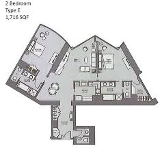 burj khalifa floor plans 2 bed type e