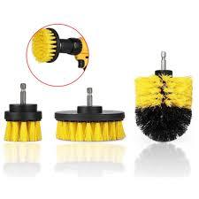 <b>drillpro</b> 3pcs 2/3.5/<b>4 inch</b> yellow <b>electric drill brush</b> tile grout <b>power</b> ...