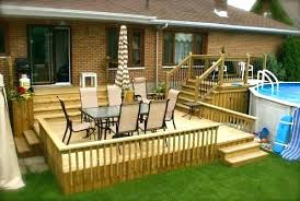 above ground round pool with deck. Fabulous Brilliant Above Ground Pool Deck Plans Round Small Designs . With