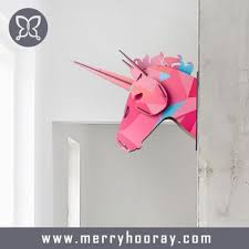 diy mdf wooden home wall decor unicorn heads unicorn heads