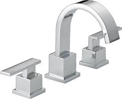 chrome bathroom faucet. Delta Bathroom Faucets For Modern Decorating Ideas: With Two Handle Chrome Faucet
