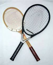 wood and graphite tennis racquets