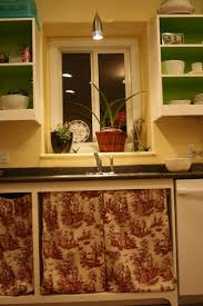 Green Kitchen Cabinet Doors 17 Best Images About More Cabinet Curtains On Pinterest Cottages