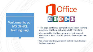 Ms Office Excel Powerpoint Word Training Programs In Malaysia