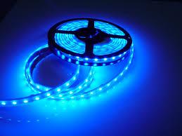 pontoon led flat flexible ribbon led strip light kit blue