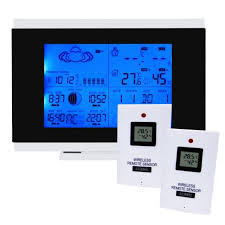 2 wireless sensor indoor outdoor weather station thermometer clock dcf77 rcc dst