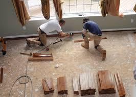 preparing wood suloor