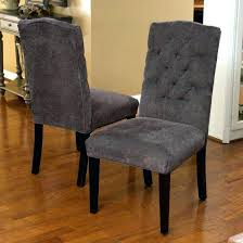 grey dining chair set chair awesome dark grey fabric tufted dining chair set of 2 large grey dining chair