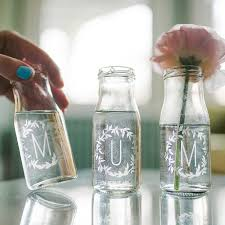 personalised mum bottle bud vases