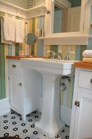 Love The Pedestal Sink With The Cabinets Counters On Each Side 1920s Bathroom Sink Style