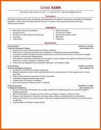 Sample Resume For Packer Job 100100 Packer Job Description Resume Formsresume 97