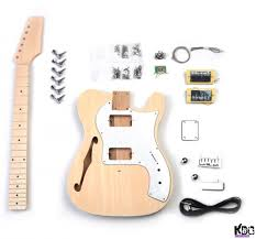 kbg tl a ash semi hollow thinline style build your own guitar kit