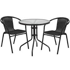 garden table and 2 chair set. image is loading patio-furniture-set-28-034-round-glass-metal- garden table and 2 chair set g