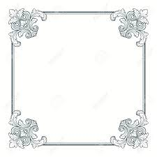 vintage frame border. Calligraphic Ornate Vintage Frame Border Decorative Design Stock Vector - 13708471 123RF.com
