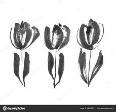 эскизы татуировок тюльпан черные чернила концепции современного