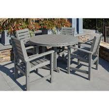 gray patio furniture. Signature Slate Grey 5-Piece Plastic Outdoor Patio Dining Set Gray Furniture E