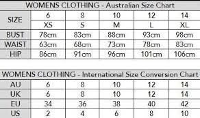 Jeans Conversion Chart Australia Size Chart Privvy