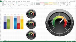 Excel Gauge Chart Template Download Creating Kpi Dashboard With Gauges Excel Dashboard Templates