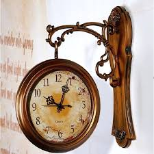 large vintage wall clock wall clock modern design double sided wall clock digital large vintage wall