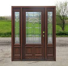 Decorating wood front entry doors with sidelights images : Exterior Doors with 2 Sidelights