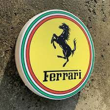 Upgrade you ferrari with premium quality automotive lighting or replace your old, defective or worn lights with new lights at carid. Ferrari Led Wall Light Sign Logo Garage Automobilia Car Auto Dino Daytona Spider Ebay