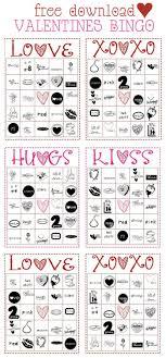 Free Printable Valentine S Bingo Game