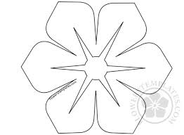 Spring Flower Template Vector Flower Shape Spring Flower Template Flowers Templates