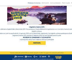 Concorso a Premi Lotteria Italia SOGNIAMO INSIEME 2019 ...