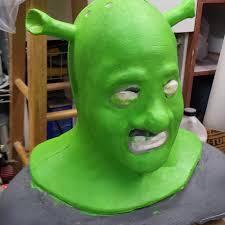 shrek foam latex mask cowl
