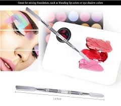 diy snless steel double head nails palette color mixing makeup tool silver