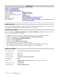 Resume Template Fresher Resume Templates Template Format Models For Mba Freshers In Sample 23