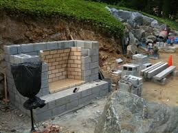 building outdoor fireplace with cinder blocks inspirational foundation for outdoor fireplace outdoor designs