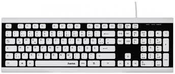 Купить компьютерную <b>клавиатуру Hama</b> Covo black white в ...