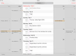 How to display your Calendar events as a list view widget on iPhone and iPad