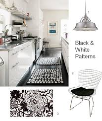 black and white rug patterns. Contemporary And Inspiring Black And White Striped Kitchen Rug With For  For Patterns D