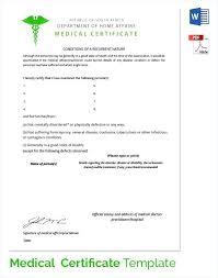New Medical Certificate Good Health Sample Certificate Sick