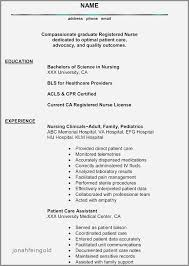 30 Inspirational Sample Resume For Registered Nurse Without