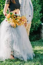 Unconventional Wedding Inspiration With Gray And Marigold Ruffled