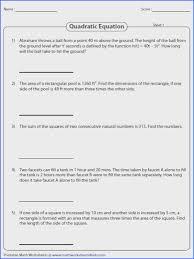 solve these quadratic equation worksheets using zero property factorization pleting the square and quadratic formula