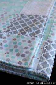 30 Minute Baby Quilt | Baby quilts easy, Easy baby quilt patterns ... & How to Make a Baby Quilt from Receiving Blankets - Confessions of a Serial  Do-it-Yourselfer Adamdwight.com
