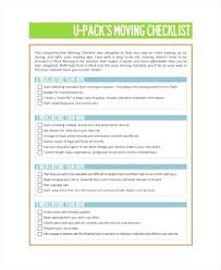 Business Moving Checklist Template New Relocation Office House Checkli