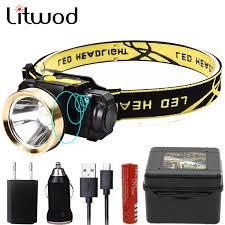 Litwod Z209010 LED Motion IR Sensor head light Headlamp ...