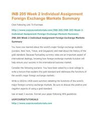 World Currency Chart Pdf Inb 205 Week 2 Individual Assignment Foreign Exchange