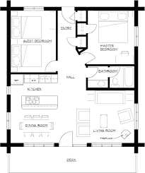 small 1 bedroom house plans hall kitchen plan one floor 4 3 2 bath home full